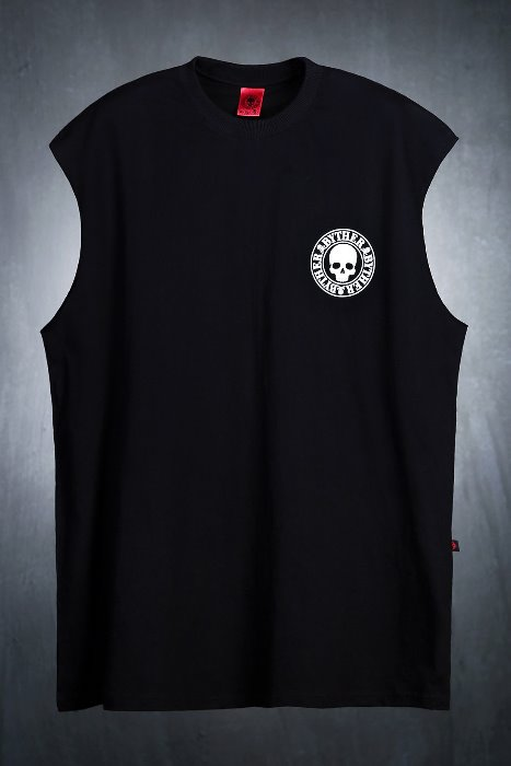 ByTheR Logo Print Crew Neck Tank Top
