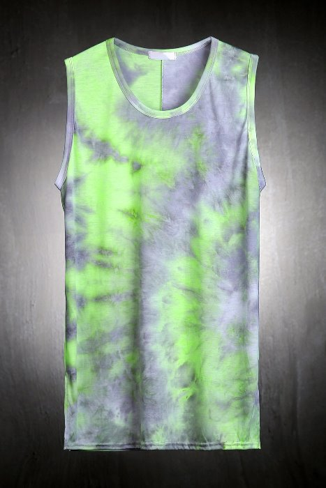 Soft  Water Tie Dye Loose Fit Tank Top