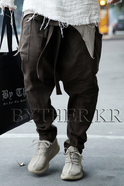 ByTheR Waist Cover Linen Baggy Pants