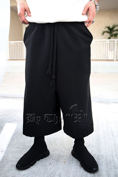 ByTheR Rope Cropped Wide Pants