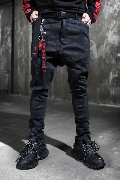 ByTheR Panel Coated Baggy Pants