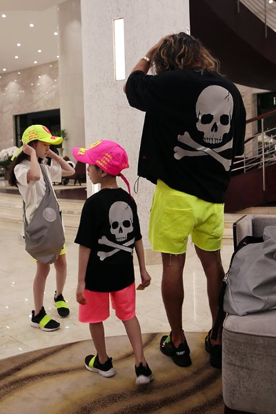 ByTheR Kids Back Reflective Skull Black T-shirt