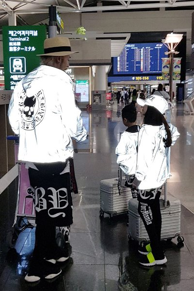 ByTheR Kids Skull Logo Scotch Reflective Hoodie Windbreaker