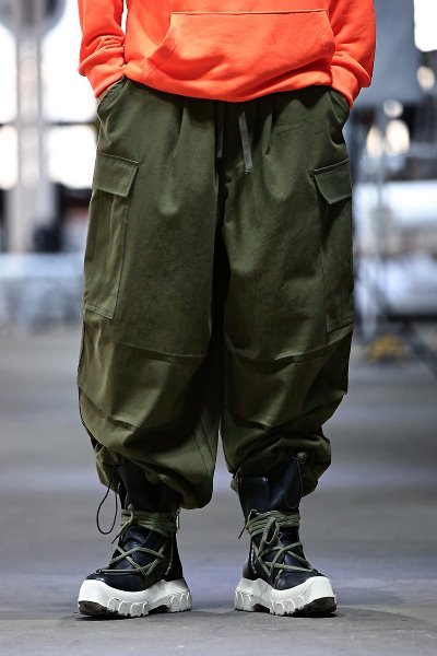 Ankle String Real Wide Cargo Pants