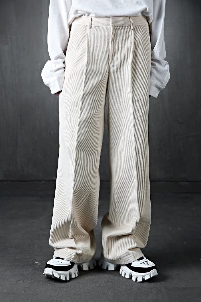 Corduroy Wide Flared Pants