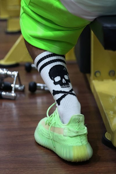 ByTheR Big Skull Point Athletic Socks