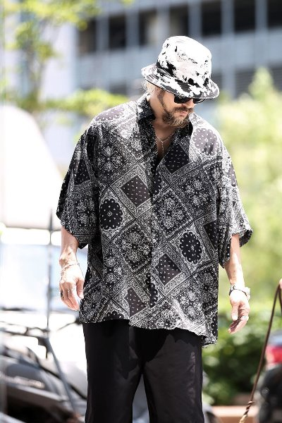 Bandana Paisley Loose Fit Short Sleeve Shirt