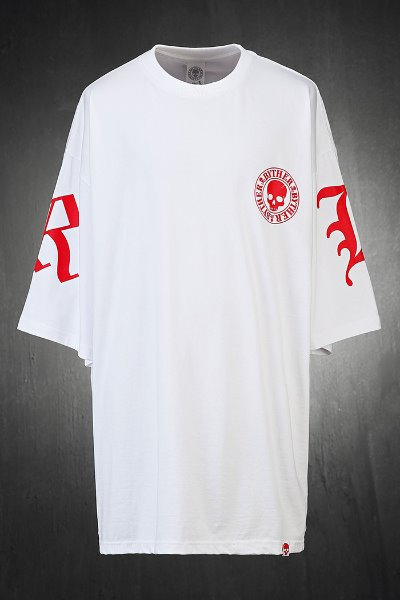 ByTheR BTR Lettering Loose Fit Short Sleeve Tee White