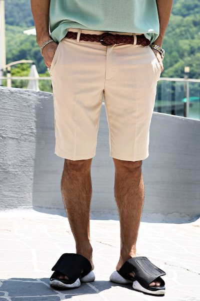 Regular fit 1/2 Short Pants with 4 pockets