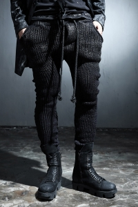 ByTheR Custom Black Painting Knit Trainning Pants