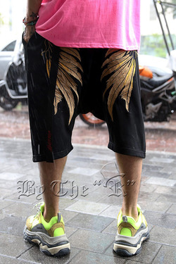 Golden Wing Embroidered Shorts