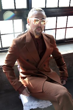 Brown Classic Double Suit Jacket