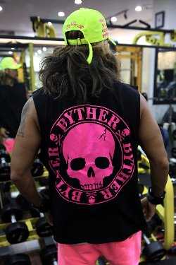 ByTheR Neon Skull Logo Print Tank Top