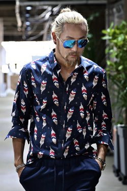 Colorful Feather Pattern Shirt