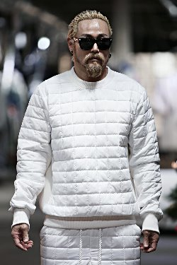 ByTheR Square Padded Sweatshirt White
