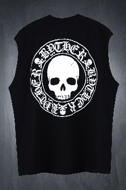 ByTheR Logo Print Crew Neck Baggy Tank Top