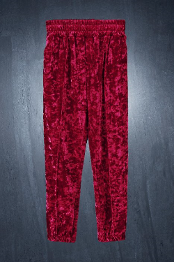 ByTheR Wavy Velvet Jogger Pants