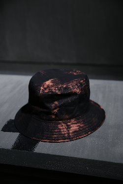 ByTheR Custom Rough Bleach Cotton Bucket Hat Black